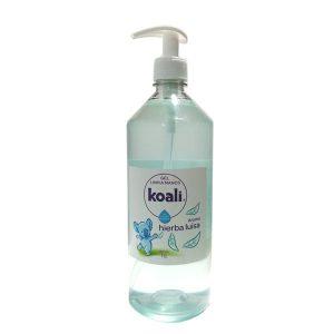 Koali Gel Limpia manos aroma Hierba Luisa para una rápida limpieza de manos sin agua