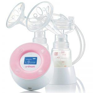 Extractor de leche electrico, doble con 7 modos de masaje y 9 de expresion
