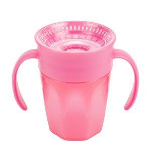 Taza de entrenamiento Cheers 360 de Dr Brown's color rosada