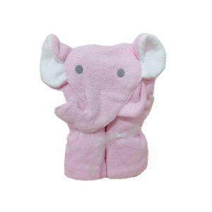 Toalla con capucha de elfante color rosa Blauhouse